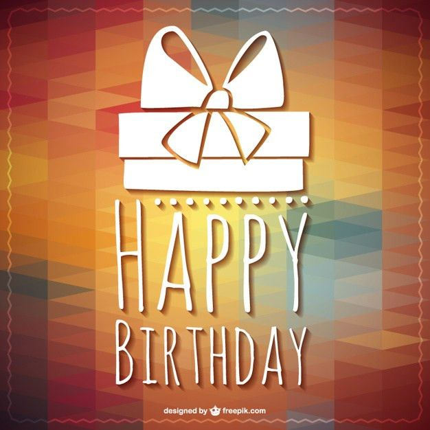 Happy Birthday lettering gift template Vector | Free Download