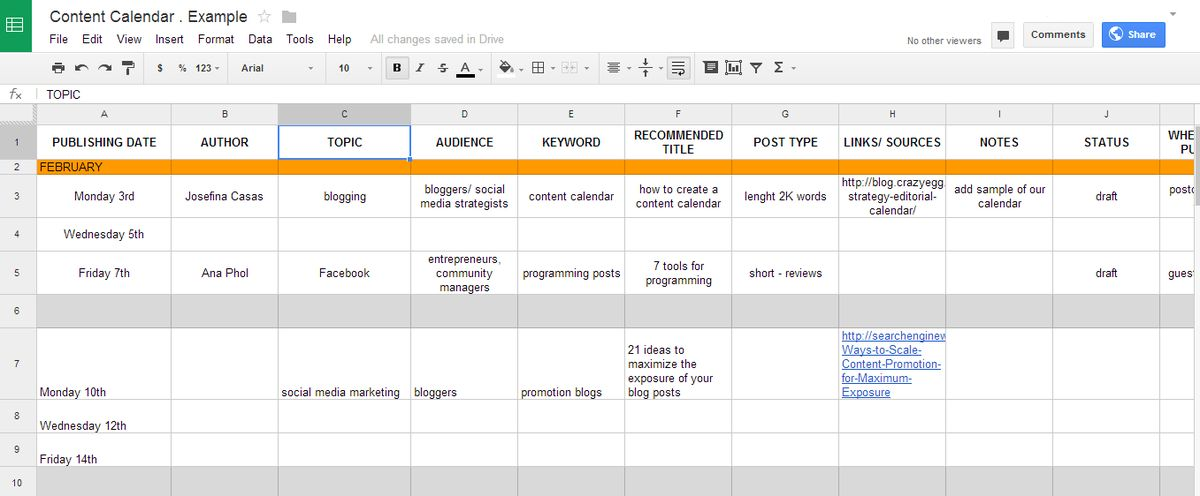 How to create a content calendar = How to be a happier blogger ...