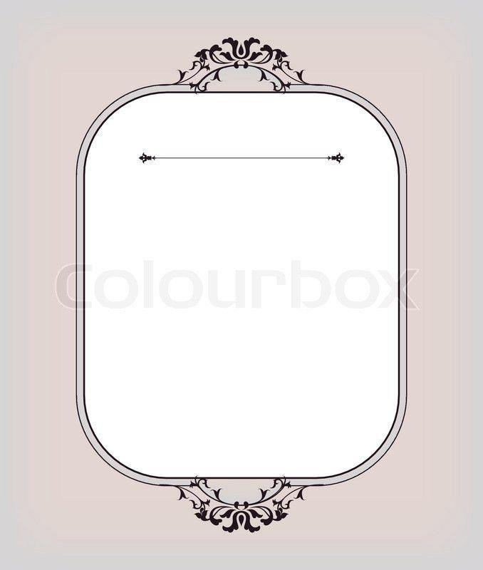 Invitation card template   Stock Vector   Colourbox