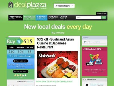 Deals Plazza Joomla Coupon Template for Daily Deals
