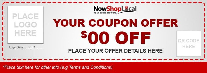 Mobile Social Coupon Ad Copy Form - Now Shop Local