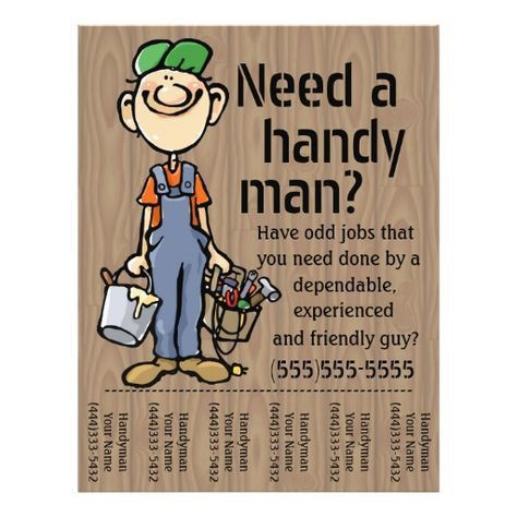 Carpenter Handyman Plumber Painter Earn Money Flyer | Earn money ...