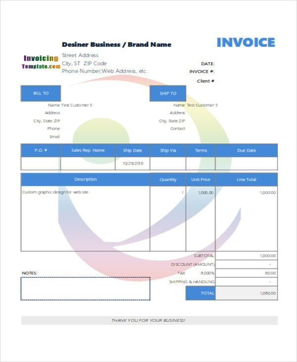 5+ Sample Graphic Design Invoice - Free Sample, Example, Format ...