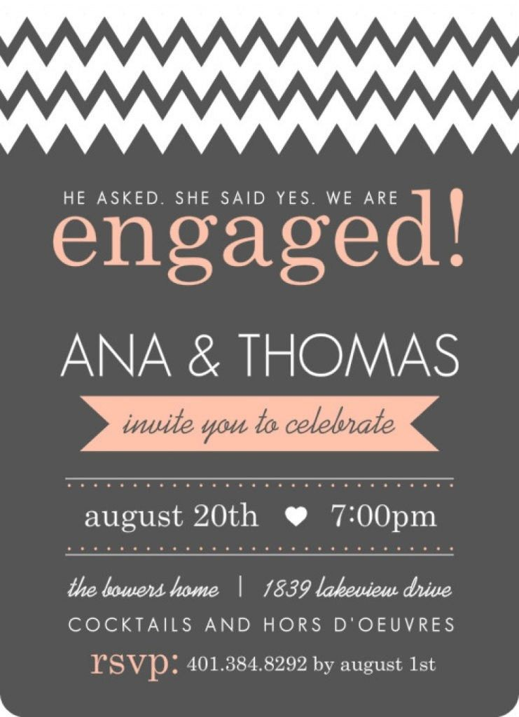 Engagement Invitation Templates Free Printable - Invitation Template