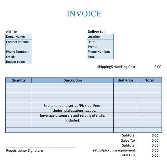 Catering Invoice Sample - 10+ Documents In PDF