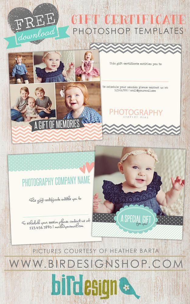 Free Gift Certificate template Photoshop – Birdesign