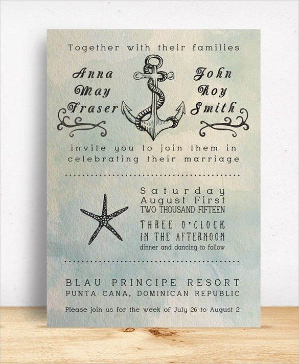 24+ Beach Wedding Invitation Templates – Free Sample, Example ...