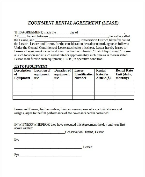14+ Rental Agreement Form Templates – Free Sample, Example Format ...