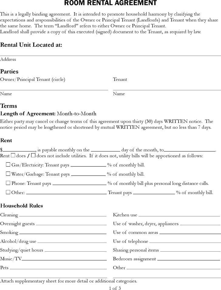Rental Contract Template | Download Free & Premium Templates ...