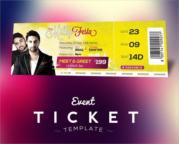 Sample Concert Ticket Template - 14+ Documents in PSD