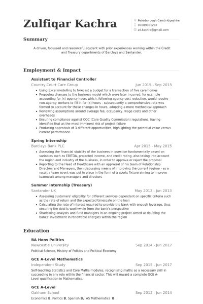 sample controller resume resume resume sample 6 controller chief