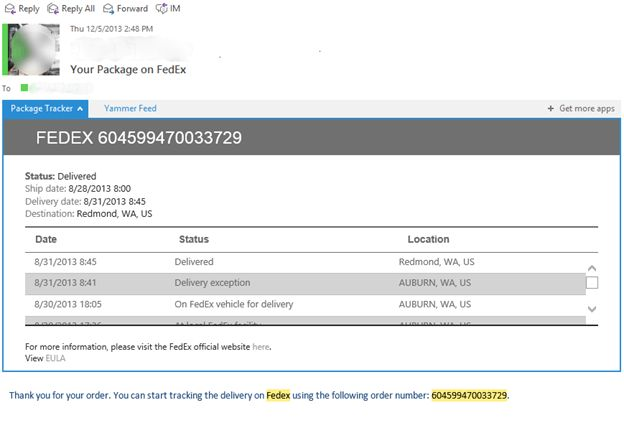 New release: Package Tracker for Outlook 2013 and Outlook Web App ...