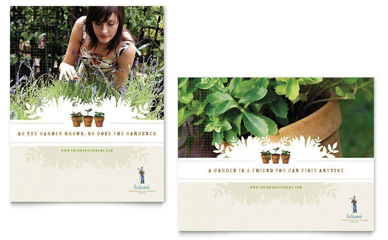 Landscape & Garden Store Poster Template - Word & Publisher
