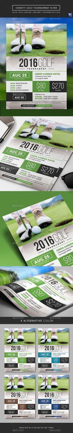 Golf Cup Tournament Flyer Template | Print | Pinterest | Flyer ...