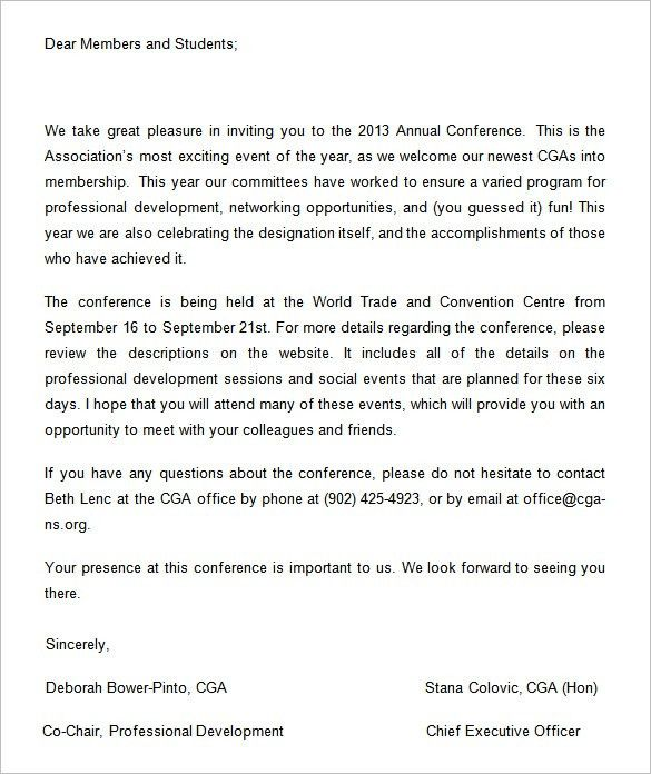 6+ Conference Invitation Templates – Free Word Documents Download ...