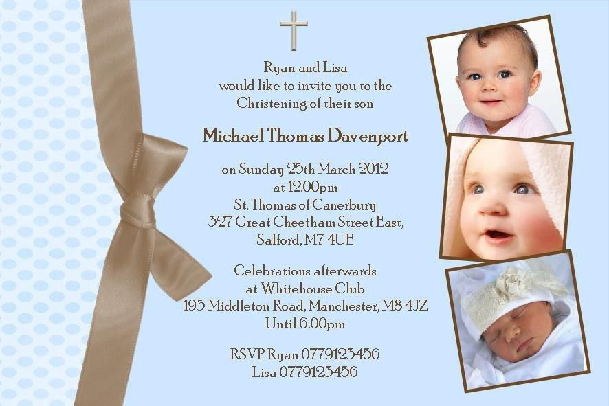 Baptism Invitations For Boys | badbrya.com