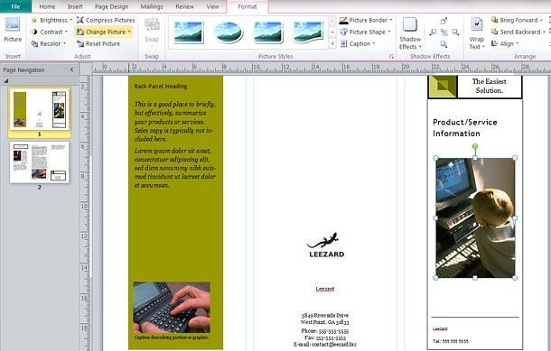 How To: Make a Brochure in Publisher - Printaholic.com