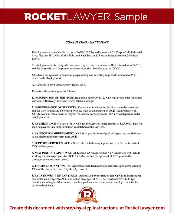 Consulting Agreement - Consulting Contract Template (with Sample)