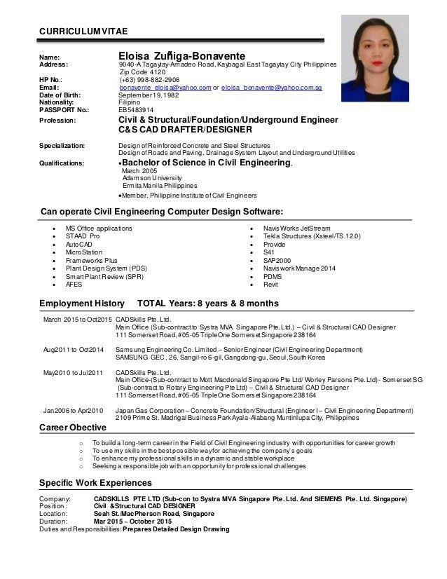 EZBonavente CV_ Civil & Structural Engineer