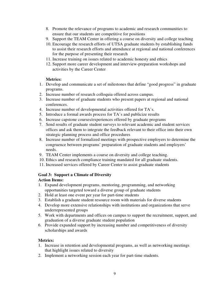 29. Grad School Final Draft Unit Strategic Plan Template For Utsa 2…