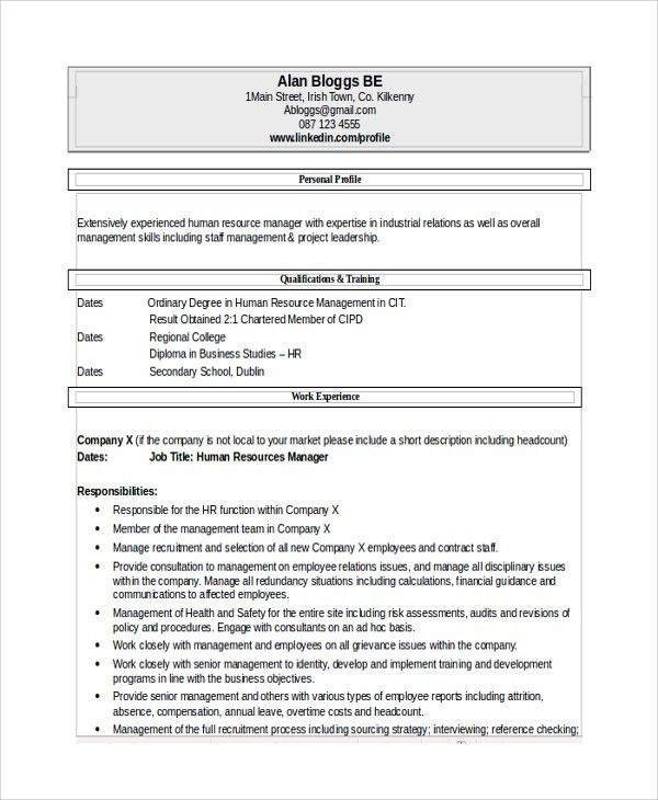 Sample Recruiting Manager Resume Template   6+ Free Documents .