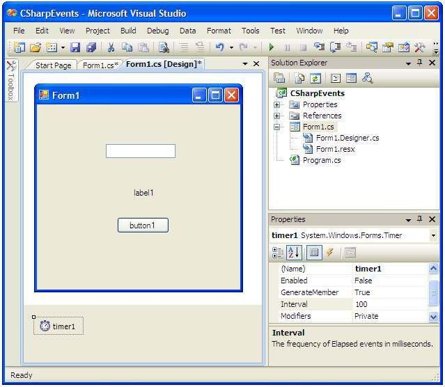 Understanding C Sharp GUI Events - Techotopia