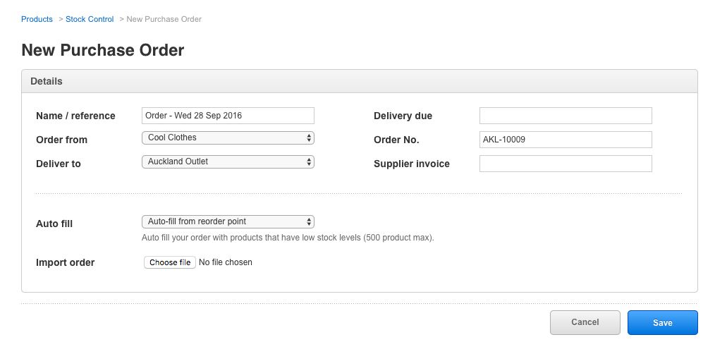 Import products into an order from a CSV file – How can we help?
