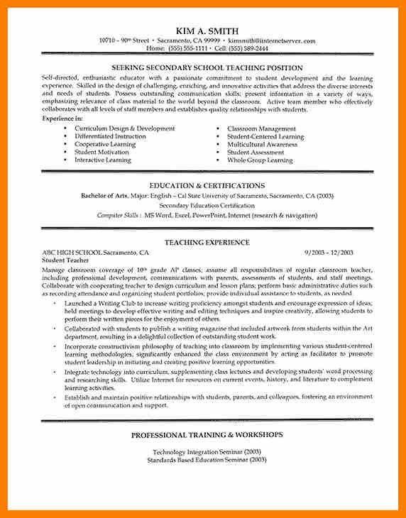 7+ teachers resume format pdf | science-resume