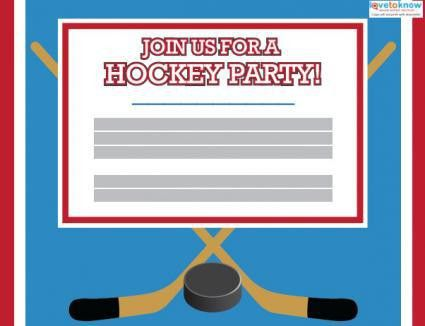 Printable Hockey Party Invitations