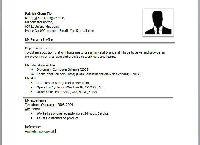 resume best simple format of updated. simple sample resume ...