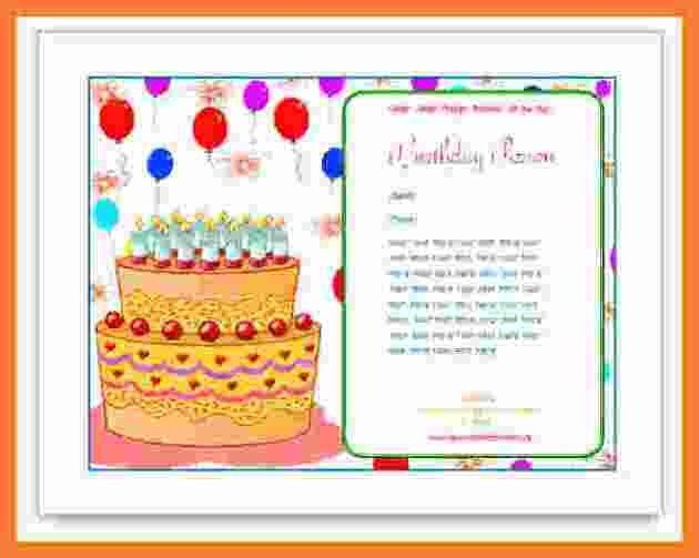 5+ birthday card template word | Marital Settlements Information