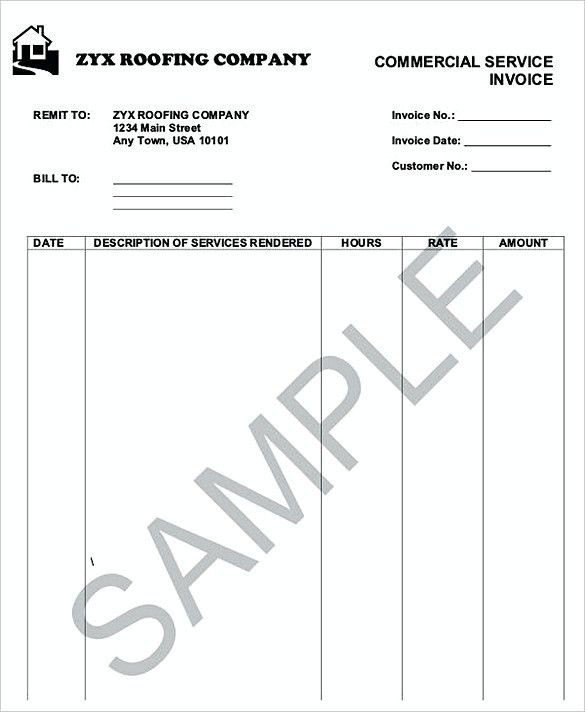 How to Plan Roofing Invoice Templates