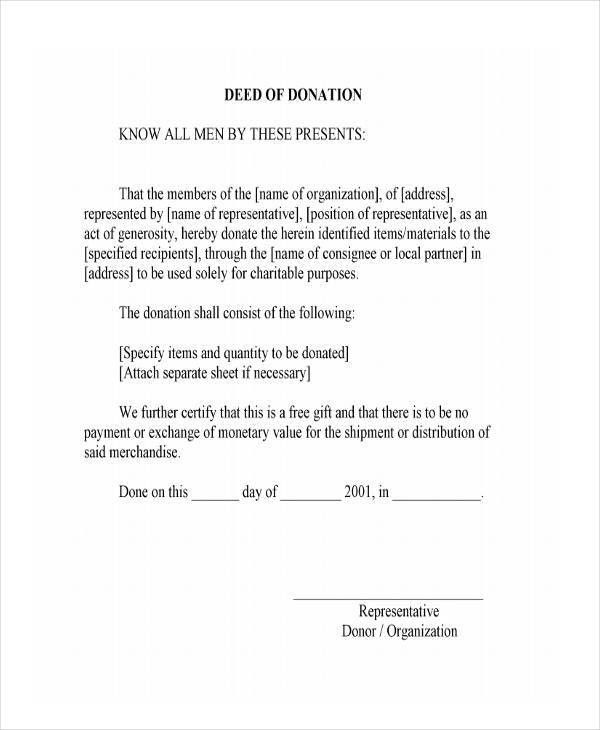 Sample Deed Of Gift Form. India Real Estate Forms | Legal Forms ...