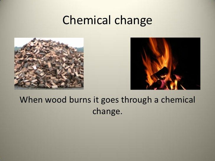 Physical change or chemical change