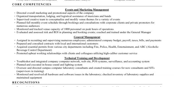 events manager resume event manager resume templates examples