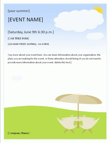 Lunch Invitation Flyer Template (MS Word) | Free Flyer Templates