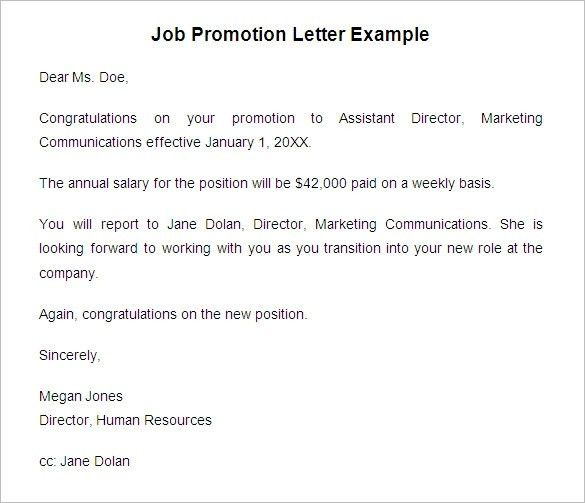 Promotion Letter Sample. Letter For Promotion Sample-Job-Promotion ...