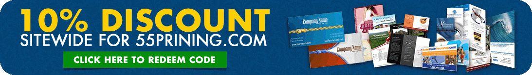 5% up to 50% Print Discounts | Cheap55Printing.com