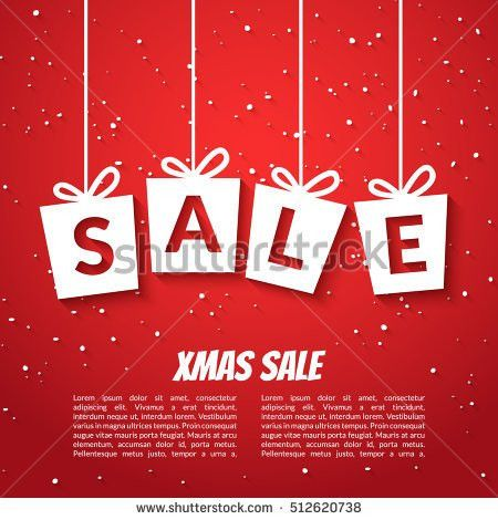 Christmas Sale Poster Template Xmas Sale Stock Vector 526185367 ...