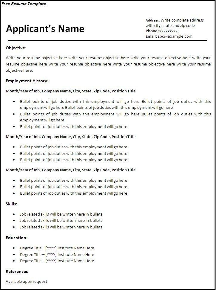 Download Resume Template. Acting Resume Template Is Very Useful ...