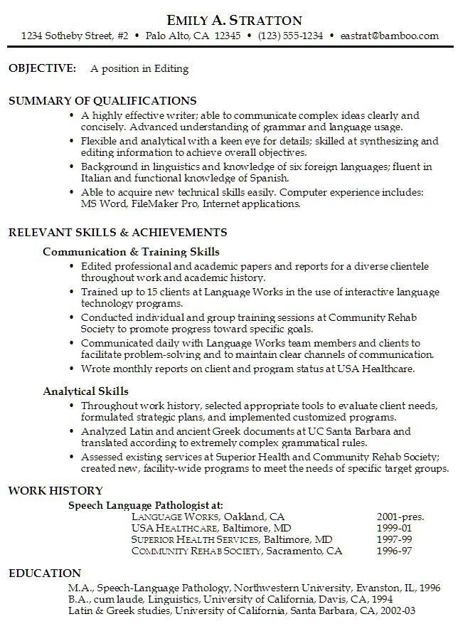 Example Of A Job Resume. Simple Resume Format Download In Ms Word ...