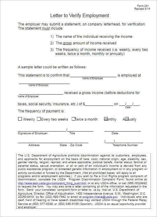 Employment Verification Letter Templates || Free & Premium ...