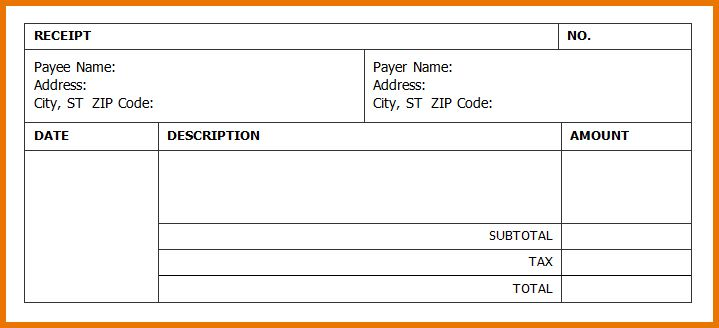 Reciept Template.Invoice Receipt Template.png | Scope Of Work Template