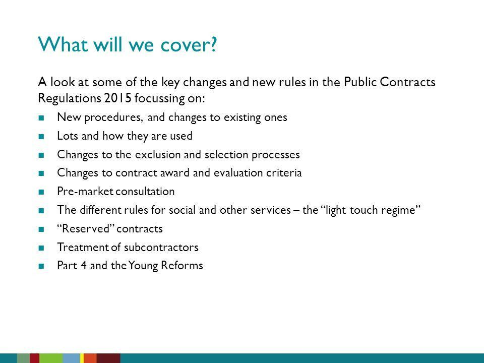 A Guided Tour of the Public Contracts Regulations ppt download