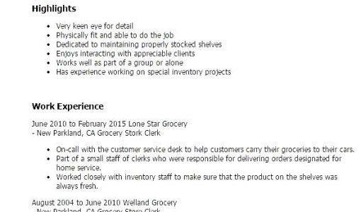 Grocery Store Resume | Resume Badak