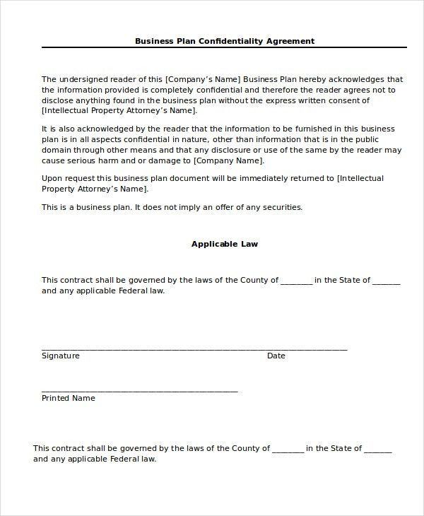 Confidentiality Agreement - 13+ Free Word, PDF Documents Download ...