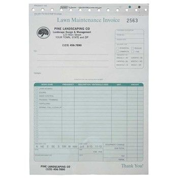 lawn service invoice | Lawn Care Invoice Forms -- Customizable ...