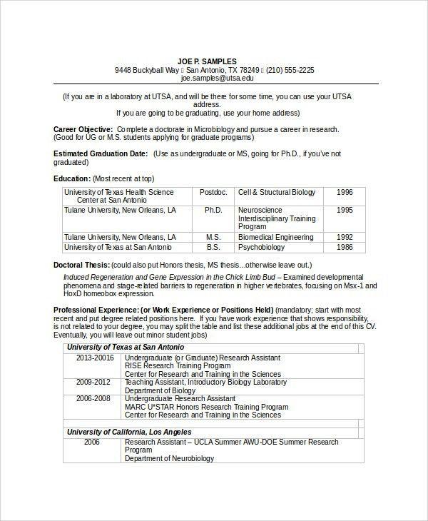 Sample Biomedical Engineer Resume - 9+ Free Documents Download in ...