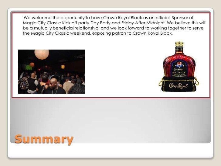 2010 sponsorship proposal for crown