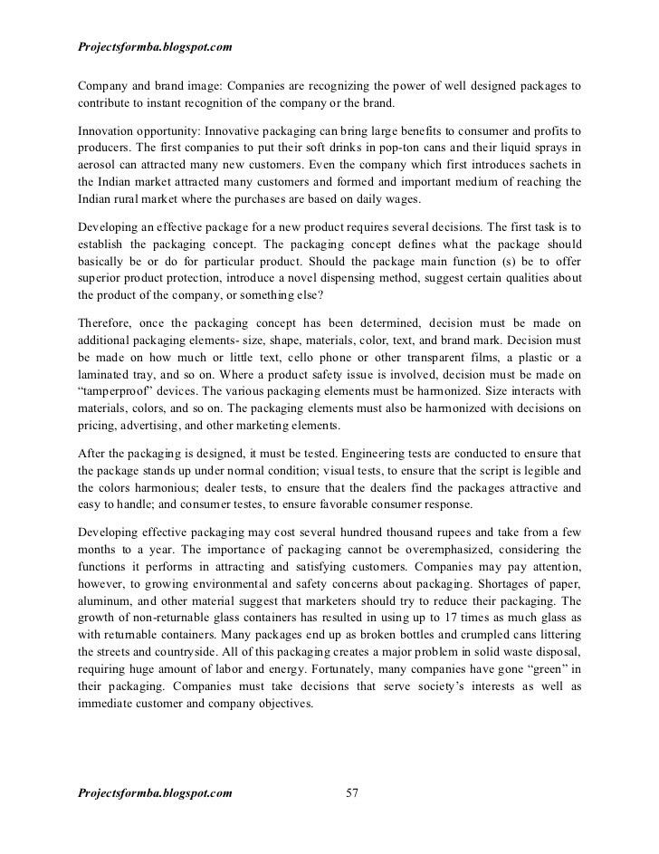A project report on designing and implementing the market strategy pl…